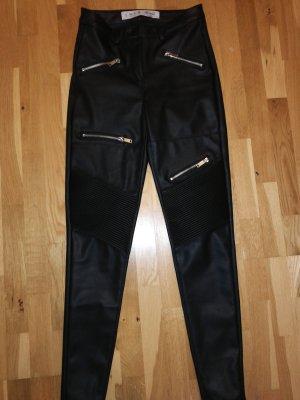 skinny lederhose schwarz