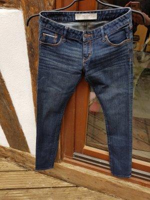 Skinny Low Waist Jeans 25/32 dunkelblau A&F
