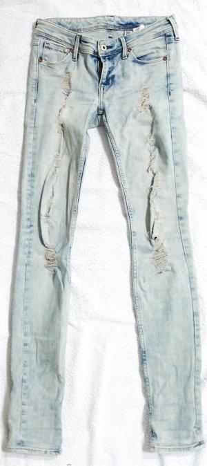 Skinny Low Waist Jeans mit Löchern