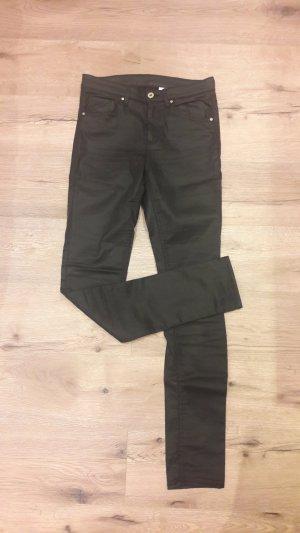 Skinny regular waist Hose schwarz 28/32 H&M S