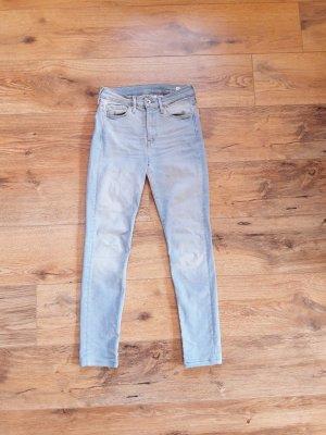 Skinny Regular Waist Jeans blau Gr. 27/30