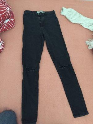 Pantalon pattes d'éléphant noir-gris anthracite