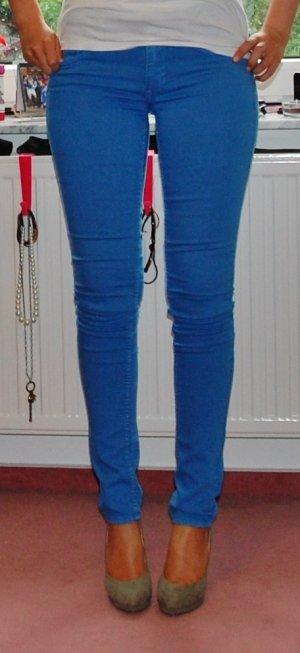 Skinny Röhre Jeans Blau