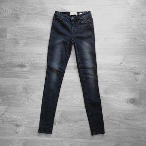 Pieces Pantalone a vita alta bianco-nero