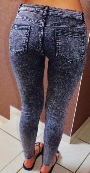 Skinny Röhren Jeans Used Look