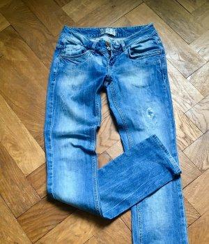 Zara Jeans cigarette bleu-bleuet