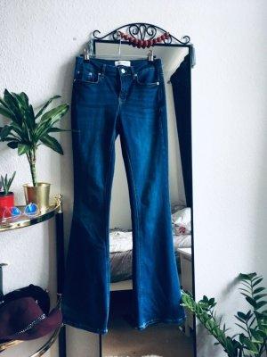 Zara Jeans a zampa d'elefante blu