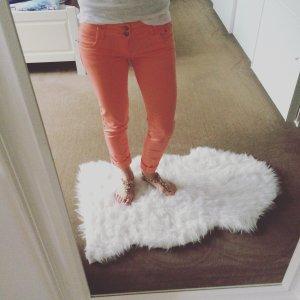 Trousers orange cotton