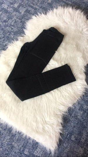 Skinny Stoffhose Black Gummizugbund