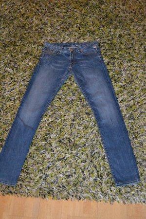 Replay Jeans stretch bleu foncé coton