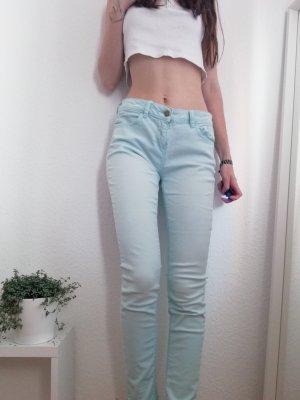 Skinny Zara Jeans in mintgrün