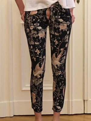 Skinnyhose mit Blumenmuster ZARA