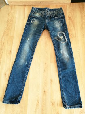 Ann Christine Skinny jeans blauw Katoen