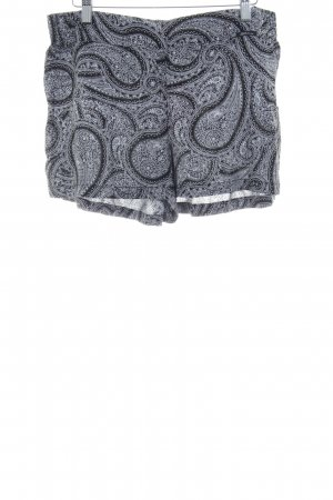 Skiny Shorts schwarz-weiß Paisleymuster Beach-Look
