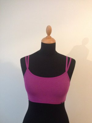 Skiny Top Bralett Crop Top Träger pink fuchsia neu mit Etikett