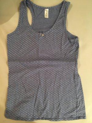 SKINY Top, Unterhemd, Gr. 42, hellblau mit Muster, NEU und ungetragen
