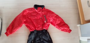 Etirel Pantalón de esquí negro-rojo