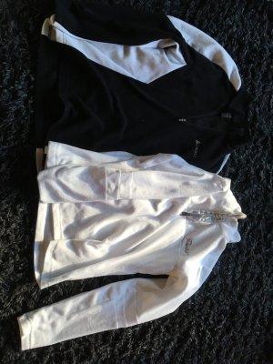 Skipullover Set schwarz/weiß