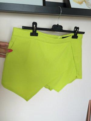 Skort Limettengrün neongrün Short Größe 40 M L