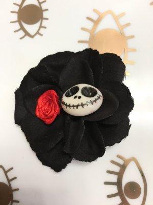 Skull Haarklammer Rockabilly-Look schwarz