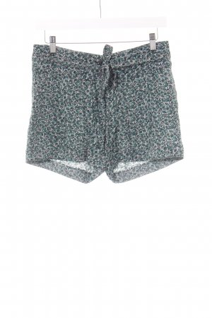 Skunkfunk Hot Pants waldgrün-rosé Blumenmuster Casual-Look