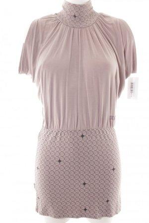 Skunkfunk Jerseykleid blasslila-schwarz grafisches Muster Casual-Look