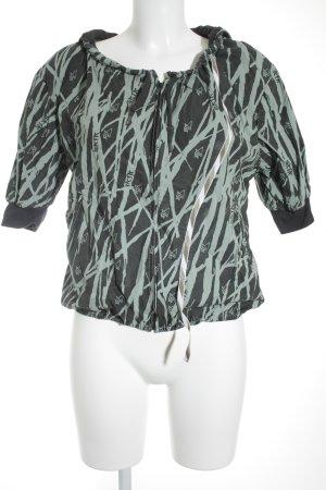 Skunkfunk Kapuzenjacke mint-anthrazit abstraktes Muster Casual-Look