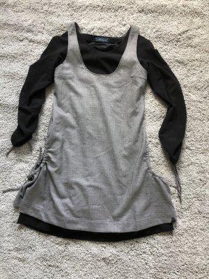 Skunkfunk Longsleeve Dress black-grey