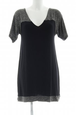 Skunkfunk Shirtkleid schwarz-grau Farbtupfermuster Casual-Look