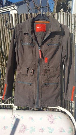 Skunkfunk - Sportliche graue Jacke mit tollen roten Details