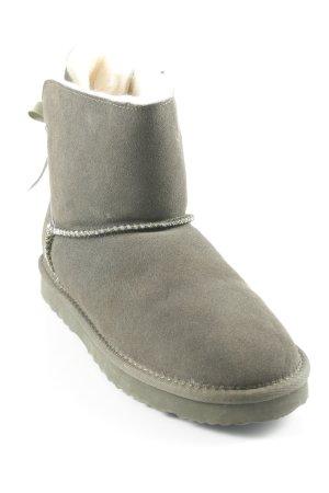 Skutari Snow Boots dark green-grass green fluffy