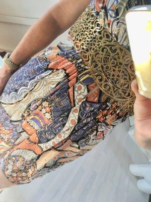 Camicetta lunga multicolore Seta