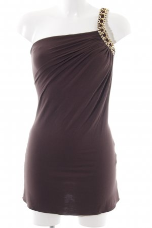 SKY One Shoulder Dress brown elegant