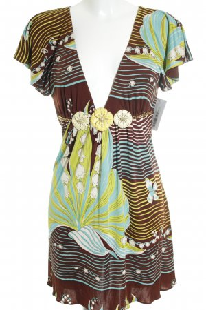 SKY Stretchkleid florales Muster extravaganter Stil