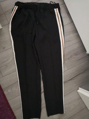 slack schwarz mit Weiß goldenem Streifen