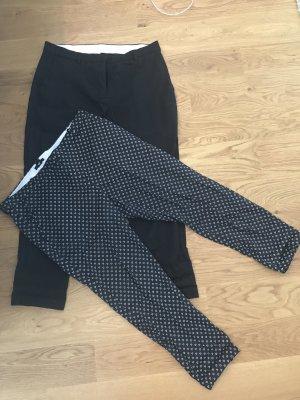 Slacks H&M schwarz/weiß gemustert 44