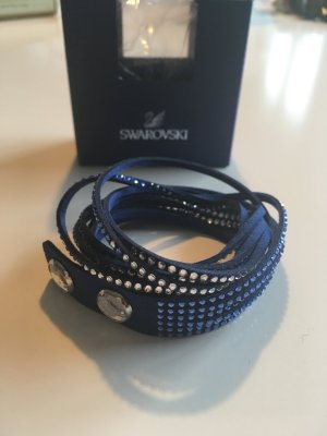 Slake Armband, Swarovski, blau