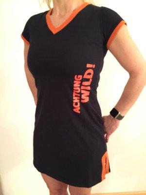 Sleep-Shirt von Jägermeister in schwarz/orange in Größe S