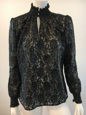 Slice Bluse in Pailletten-Optik Gr.38 chic edel elegant auffällig cool