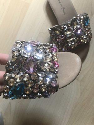 Slides Schlappen mit Diamantensteinen