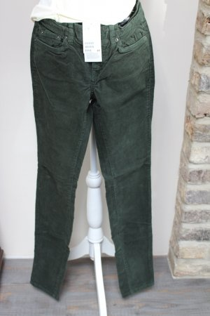 Slim Cordhose von H&M in dunkelgrün