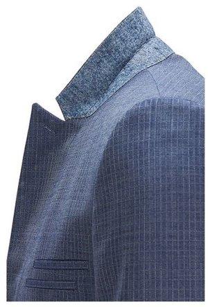 HUGO Hugo Boss Blazer de lana azul acero-blanco tejido mezclado