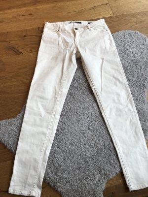 Slim Fit Hose Cremeweiß von Zara