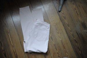Zara Five-Pocket Trousers dusky pink cotton