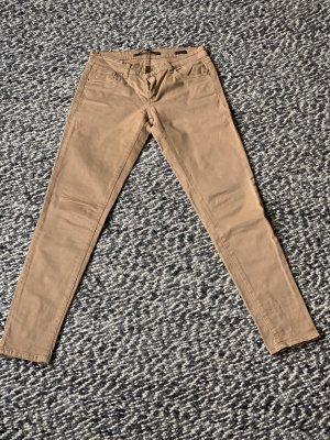 Zara Woman Pantalón de cinco bolsillos camel