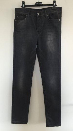 "Slim Fit-Jeans ""Rozie"" in Grau von ""7 For All Mankind"" - W 30 / NEU"
