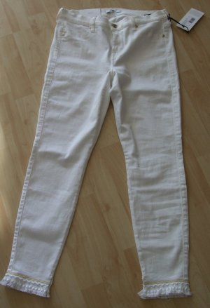 7 For All Mankind Vaquero slim blanco Algodón