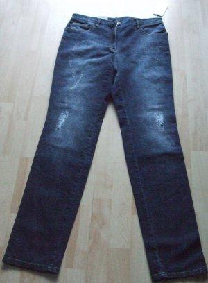 Brax Slim jeans blauw-donkerblauw Gemengd weefsel