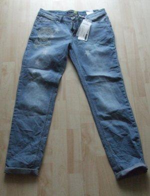 Slim Fit Jeans von Sublevel mit Nieten - Gr. M