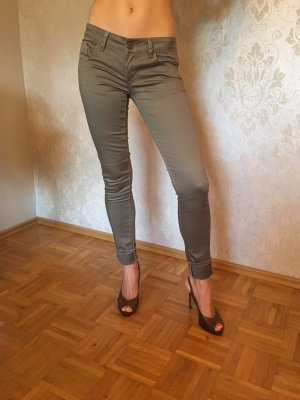 Low-Rise Trousers khaki